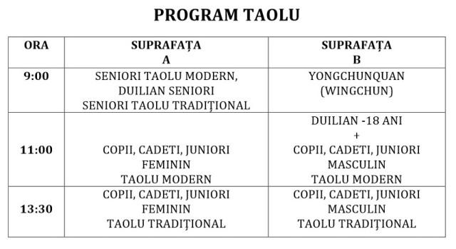 Program Taolu 2015